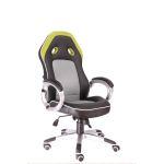 Кресло игровое Everprof Drive TM экокожа черный/зеленый