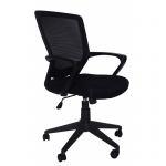 Компьютерное кресло MF-008 черное (сетка/ткань)