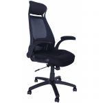 Компьютерное кресло MF-2007 черное (сетка/ткань)