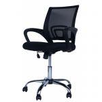Компьютерное кресло MF-696 черное (сетка/ткань)
