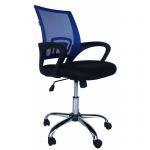 Компьютерное кресло MF-696 синие (сетка/ткань)