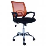 Компьютерное кресло MF-696 оранжевое (сетка/ткань)