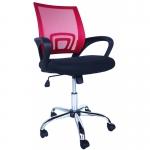 Компьютерное кресло MF-696 красное (сетка/ткань)