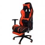 Кресло игровое MFG-6016 черное/оранжевое (экокожа)