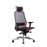 Кресло Метта Samurai S-3.04 темно-бордовый