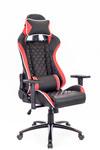 Кресло игровое Everprof Lotus S11 экокожа черный/красный