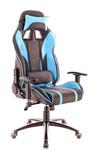 Кресло игровое Everprof Lotus S16 экокожа черный/голубой