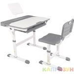 Парта трансформер со стулом Капризун R8-gray